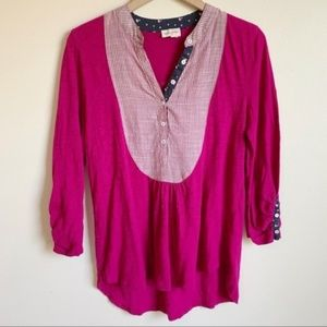 Anthropologie Meadow Rue Top Boho Pink Size M